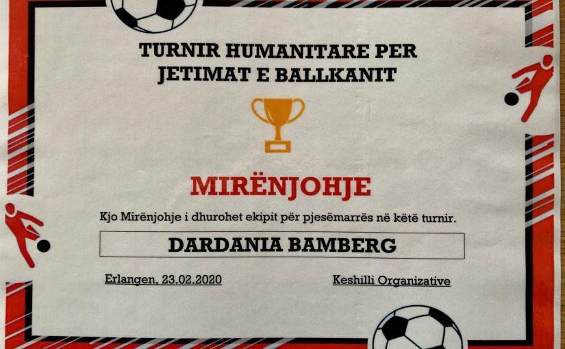 Fußball in Erlangen für Waisenkinder im Kosovo